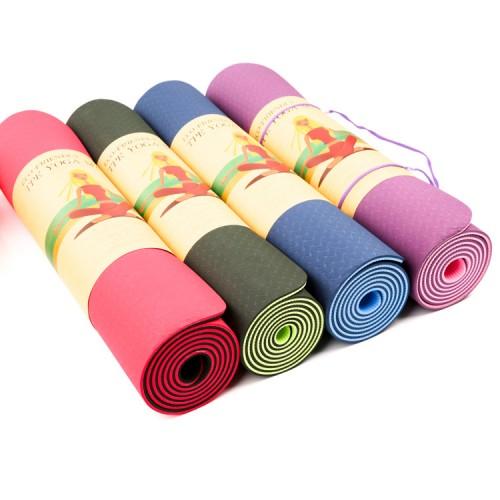 Коврик для йоги и фитнеса TPE Yoga Mat
