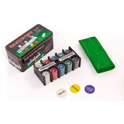Набор для игры в покер Texas Holdem Poker Set 200